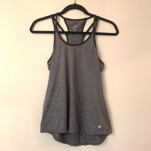APANA Strappy Workout Tank in Heathered Grey